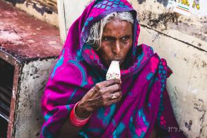 primo piano donna indiana