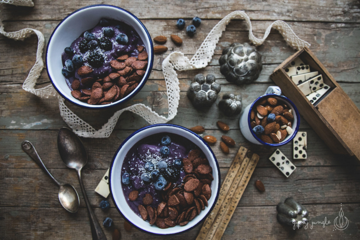 ricetta gelato vegano more e mirtilli