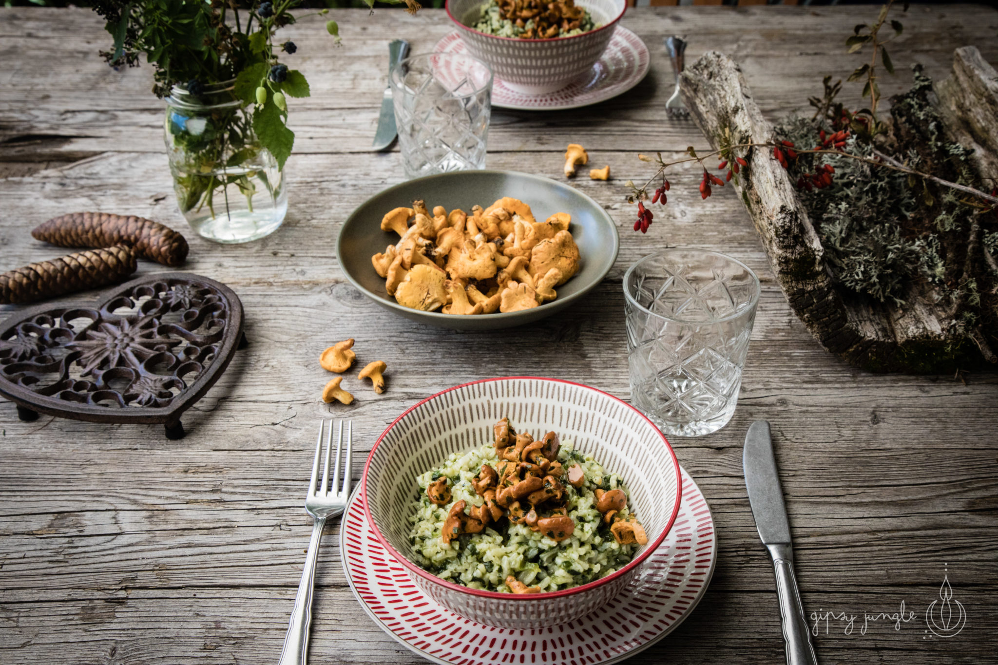 food styling - risotto ai funghi