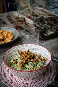 ricetta risotto spinaci e funghi
