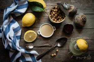 food style - limoni, ceci, barbabietole