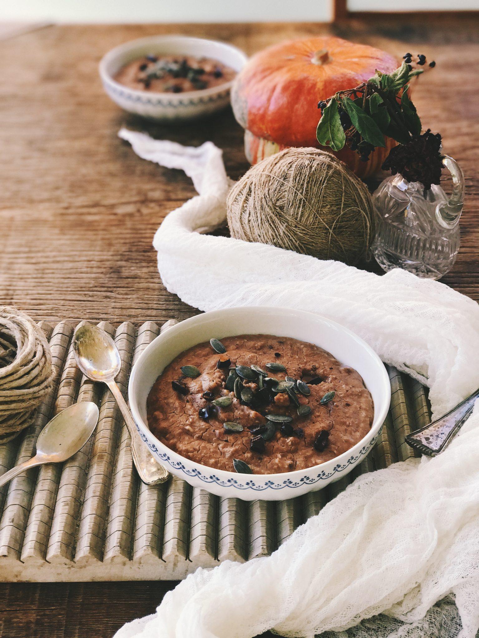 ricetta porridge cacao crudo e latte di avena